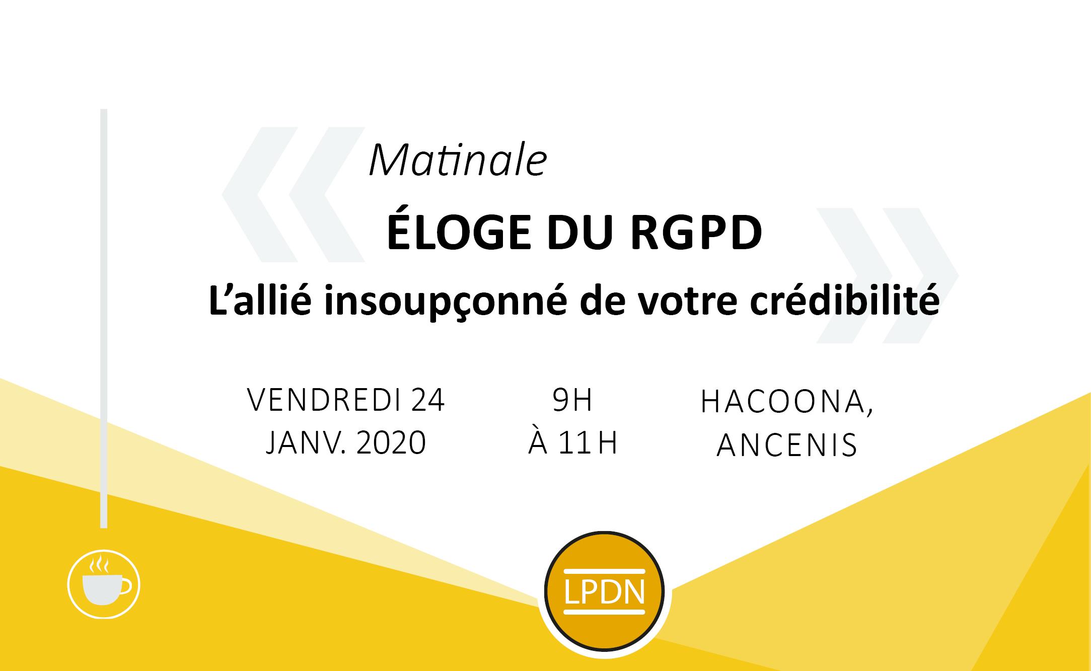 LPDN : Les Petits déjeuners du numérique 24.01.20