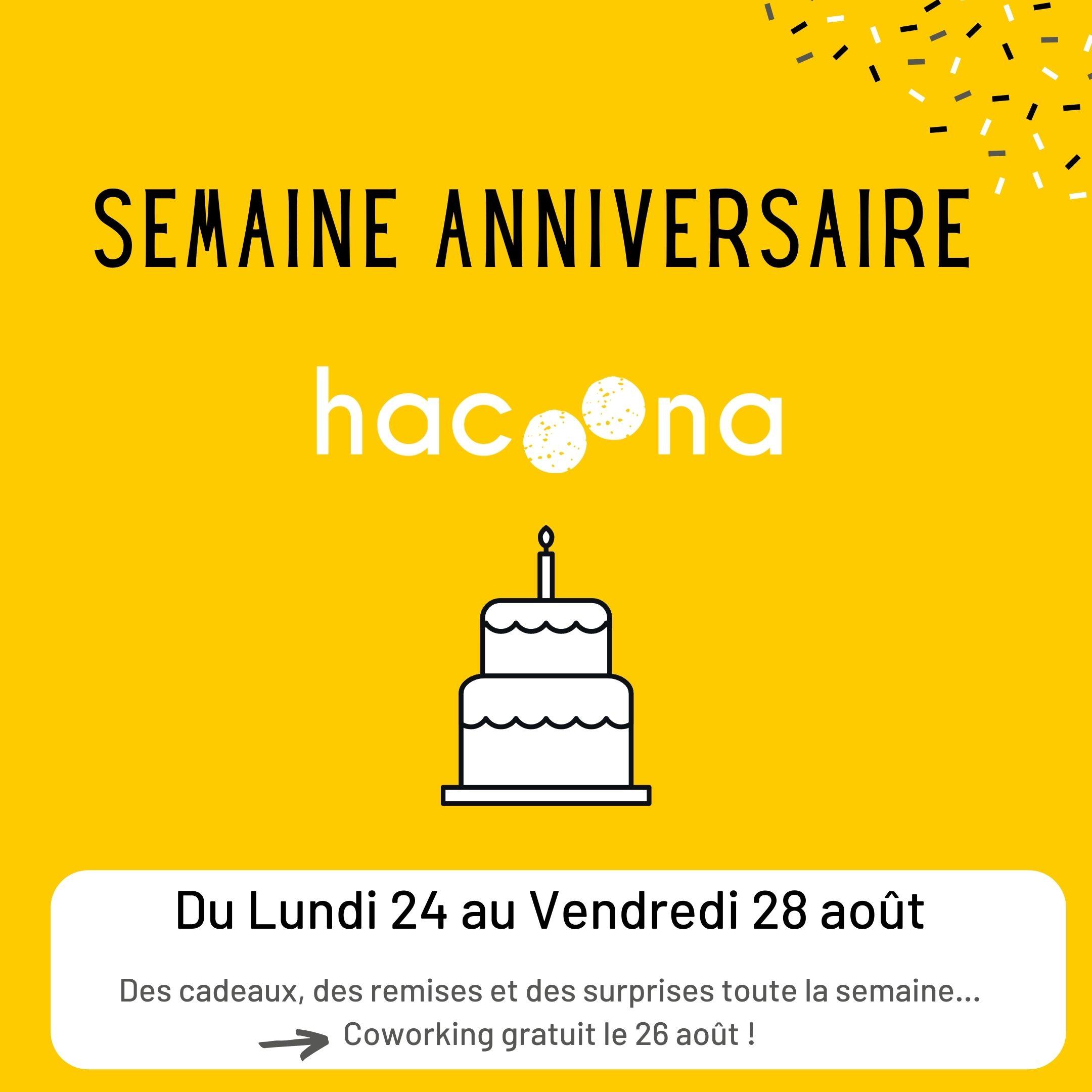Hacoona fête son premier anniversaire ! Du 24 au 28 août